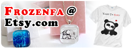 Get Handmade Glass Tile Necklaces and DTG Printed Tshirts from Singapore at our Frozenfa @ Etsy.com Store!